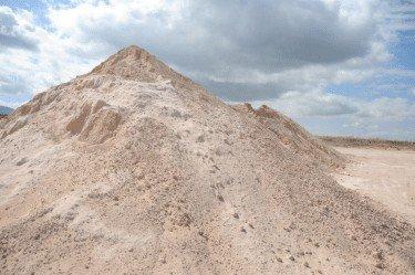 Azomite rock dust pile