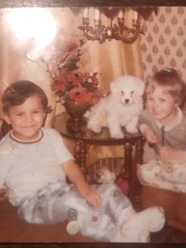 My sister Kathy and i as children